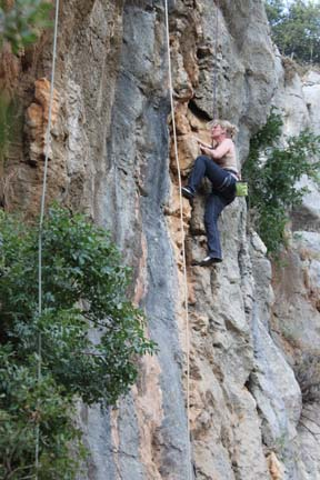 Me climbing at Sharewood Camp